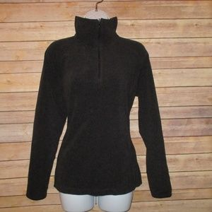 Columbia Womens Large 3/4 Zip Pullover Black